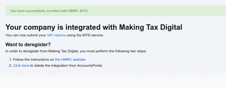 Confirmation for Making Tax Digital
