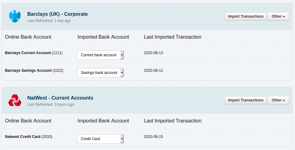 Online invoice payments